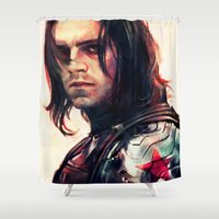 alicexz Shower Curtains featuring Left Me For Dead by Alice X. Zhang