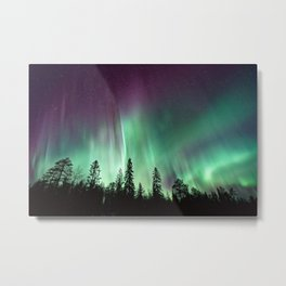 Colorful Northern Lights, Aurora Borealis Metal Print