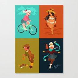 Girl of the seasons Canvas Print