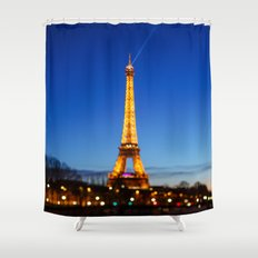 Eiffel Tower and Bokeh. Shower Curtain
