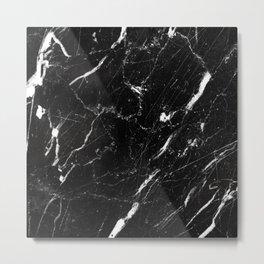 Dark marble Metal Print