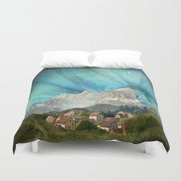 An den Bergen hing die Nacht Duvet Cover