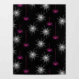 Pink Spiders Poster
