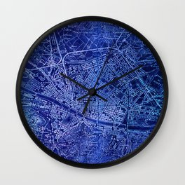 Map of Florence Italy, year 1890 Wall Clock