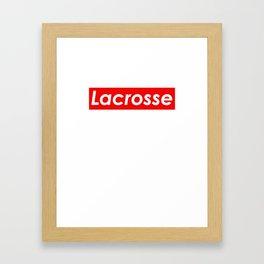 Lacrosse Red Logo Framed Art Print