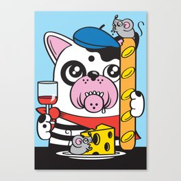 The Frenchie Connection Canvas Print