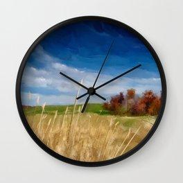 Along A  Country Lane Wall Clock