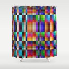 "Colorful Neon Geometric ""Nareni"" Shower Curtain"