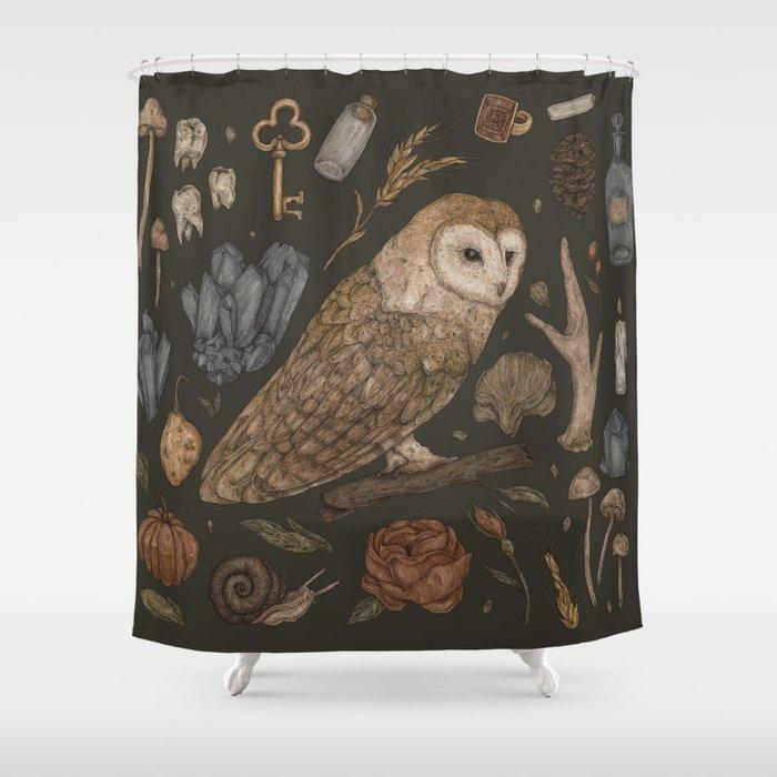 Harvest Owl Shower Curtain