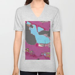 Abstract #13 in Pink Unisex V-Neck