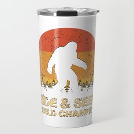 Vintage Hide And Seek World Champion Bigfoot Sasquatch Travel Mug