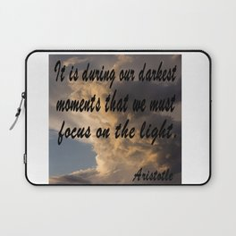 Darkest Momets, Aristotle Quote, Affirmation, Postive Quotes Laptop Sleeve