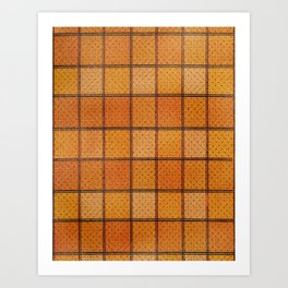 Pumpkin Plaid Art Print