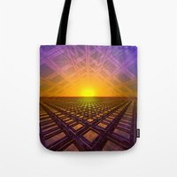 stargate Tote Bags featuring Stargate by Phil Perkins