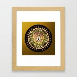 Lion Celtic Knot Mandala Framed Art Print