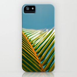 green and turquoise iPhone Case