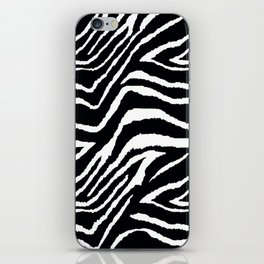 ZEBRA ANIMAL PRINT BLACK AND WHITE PATTERN iPhone Skin