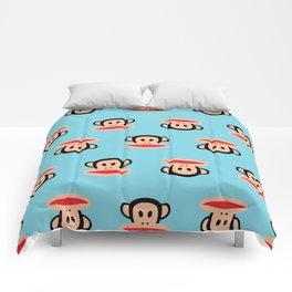 Julius Monkey Pattern by Paul Frank - Blue Comforters