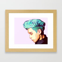 BIGBANG TOP Framed Art Print