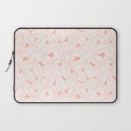 Leaves in Creamsicle Laptop Sleeve