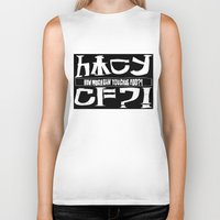 cowboy bebop Biker Tanks featuring Chuggalo Bebop by How Much Can You Chug Foo?!