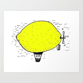 Lemon zeppelin Art Print