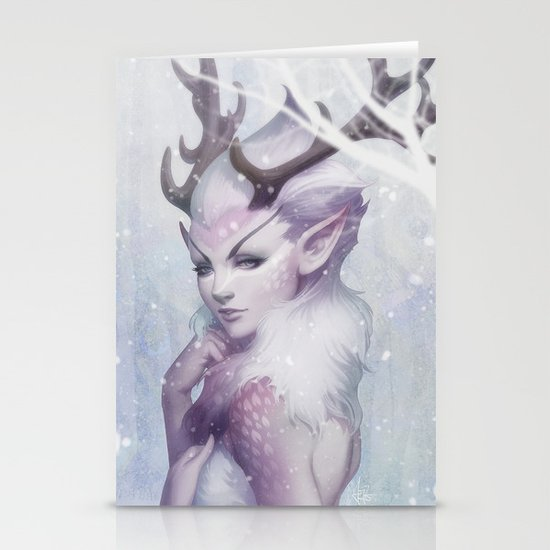 Reindeer Princess Stationery Cards