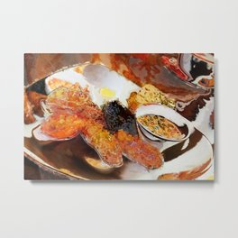 English Breakfast abstract Metal Print