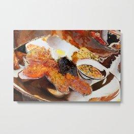 English Breakfast abstract Metal Print