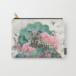 FLORAL OWL Carry-All Pouch
