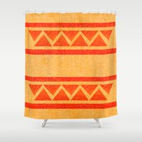 native Shower Curtains featuring Native by elledeegee