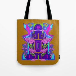 Temple of Flowers Tote Bag