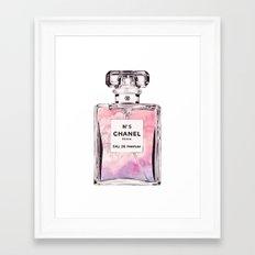 PERFUME No.5 PINK Framed Art Print