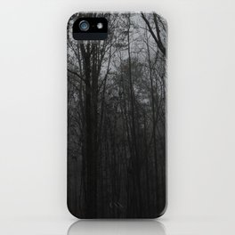 b&w woods iPhone Case