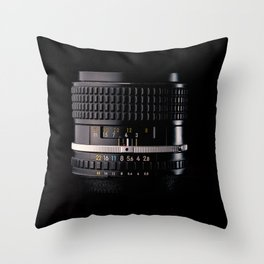 Professional Photography Lens Throw Pillow
