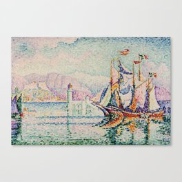 Antibes - Morning, Paul Signac Canvas Print