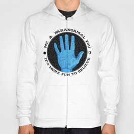 Me & Paranormal You - James Roper Design - Palmistry (black lettering) Hoody