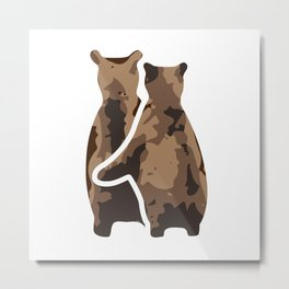 BEAR COUPLE Metal Print