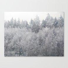 Snowing Trees Canvas Print