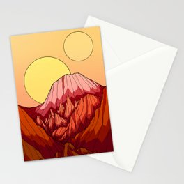 The Mountains of the red planet Stationery Cards