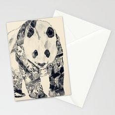 Tattooed Panda {cream} Stationery Cards