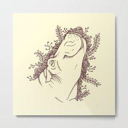 Fabulous Hippo Metal Print