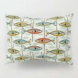Vintage Color Block Fish Pillow Sham