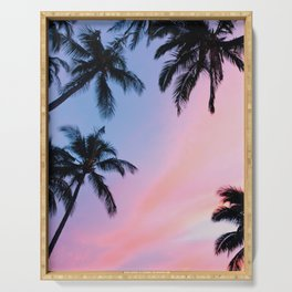 Sunset Palm Trees Serving Tray