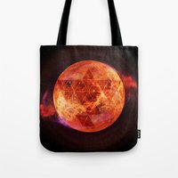 paramore Tote Bags featuring Gravity Levels: Red Planet by Sitchko Igor