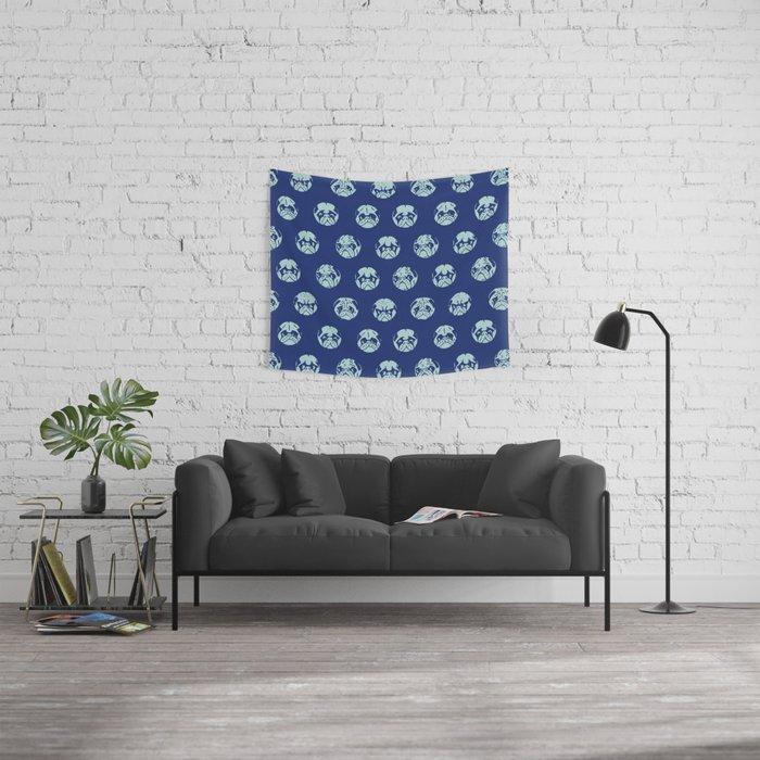 POLKA DOT PUG Wall Tapestry