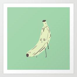 annoyed banana Art Print