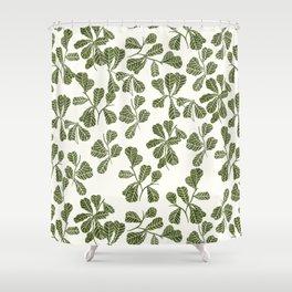 Fig Leaf Pattern Shower Curtain