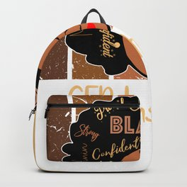 Black GED Instructor Love African American Backpack