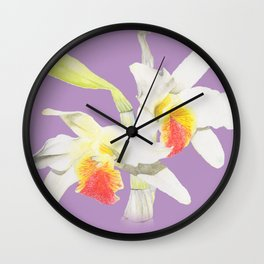 Dendrobium Heterocarpum 2 Wall Clock